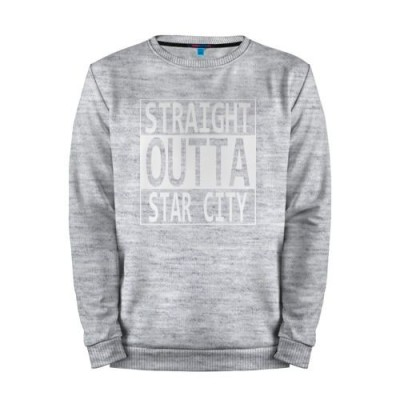 Мужской свитшот хлопок «STRAIGHT OUTTA STAR CITY» melange