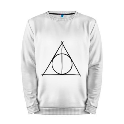 Мужской свитшот хлопок «Deathly Hallows» white