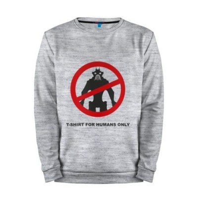 Мужской свитшот хлопок «T-shirt for humans only» melange