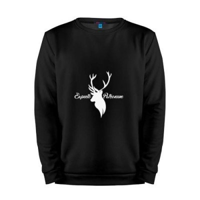 Мужской свитшот хлопок «Expecto Patronum» black