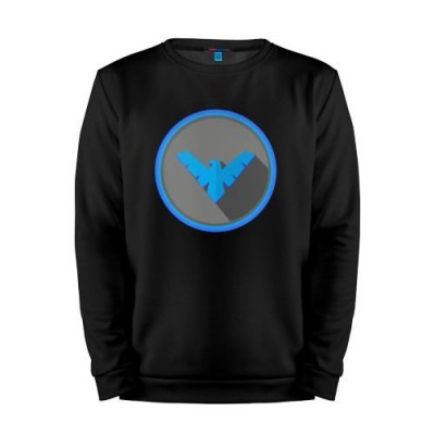 Мужской свитшот хлопок «Nightwing» black