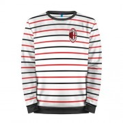 Мужской свитшот 3D «AC Milan - Stripe white» black