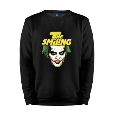 Мужской свитшот хлопок «Smiling Joker» black